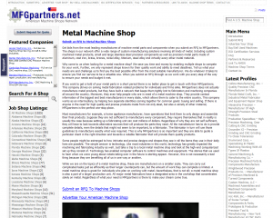 Metal Machine Shops