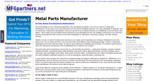 Metal Parts Manufacturing